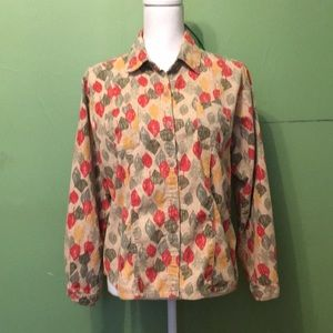 WOOLRICH button down with leaf design 100% cotton